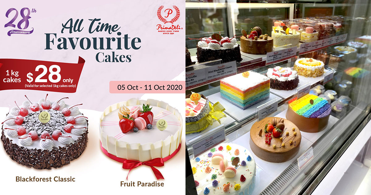 PrimaDeli selling 1kg Cakes at only $28 till Oct 25 because Anniversary Promotion (U.P. $43.80)