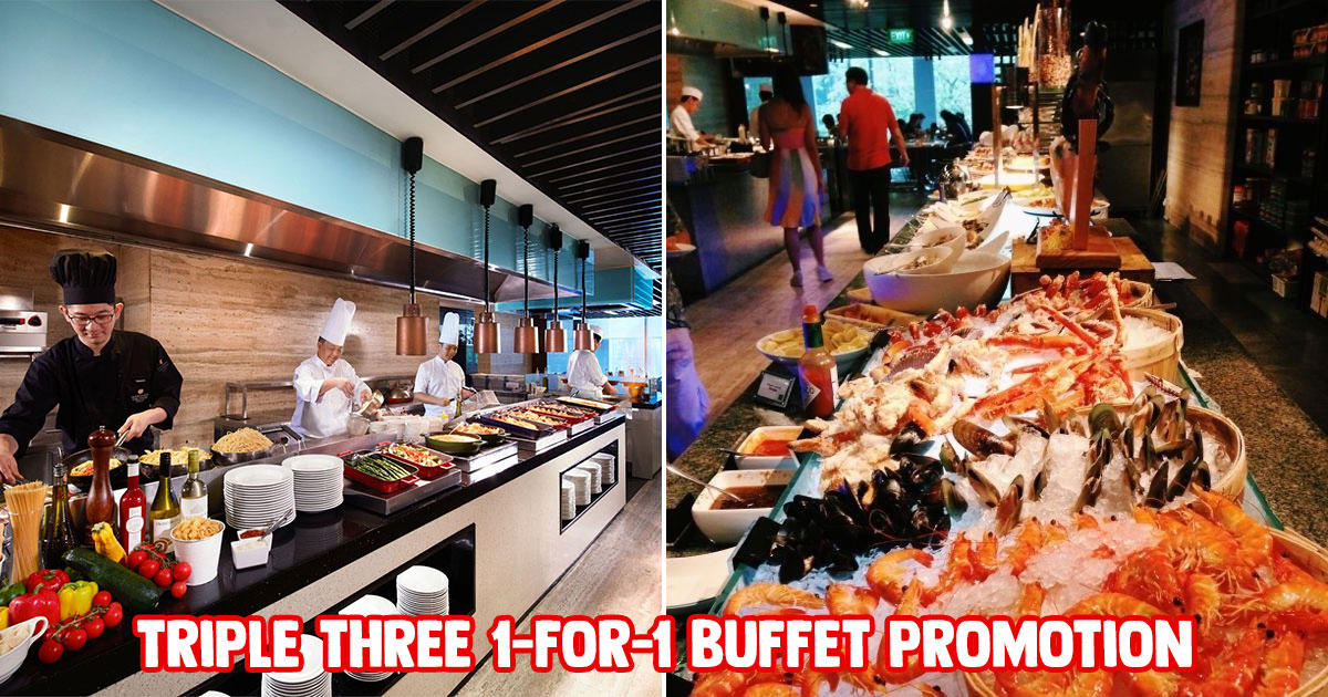 Triple Three Mandarin Orchard 1-FOR-1 Weekend Buffet Deal means you pay as low as $44 per pax till Nov 30