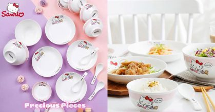 Authentic 16pc Hello Kitty Ceramic Tableware Set priced at $55 available for pre-order till Oct 18