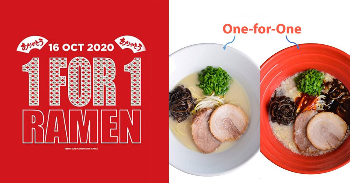 IPPUDO has 1-for-1 Ramen Deal at all S'pore outlets on Oct 16 in 35th Anniversary Celebration