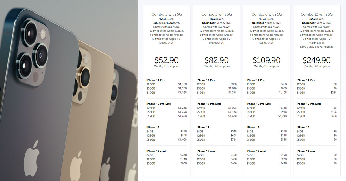 Singtel first to release iPhone 12 & 12 Pro Contract Price Plans from $52.90 monthly