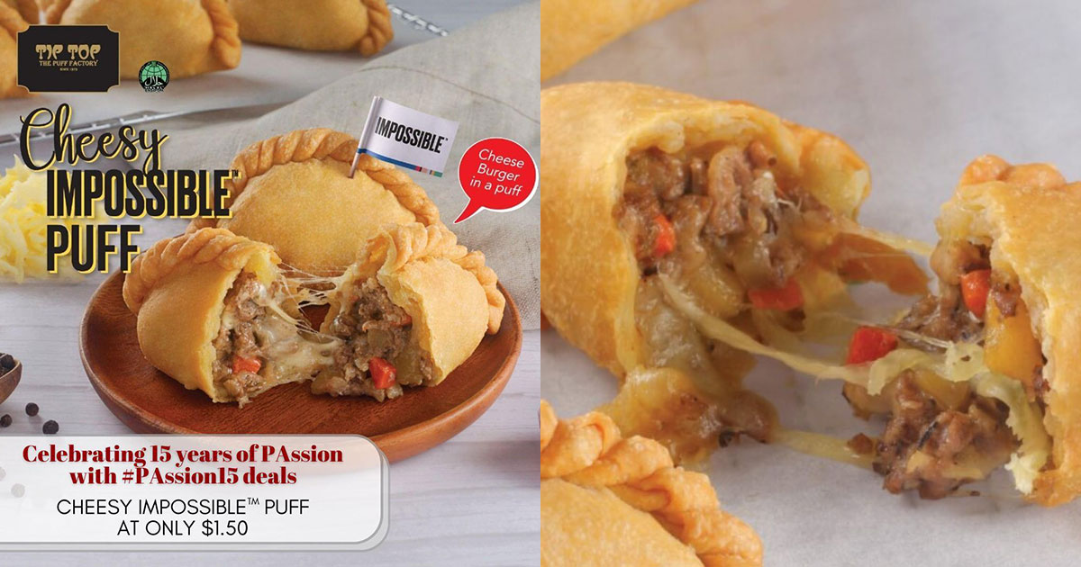 Pay only $1.50 for Tip Top's Cheesy Impossible Puff with PAssion Card till Nov 19 (U.P. $3.00)