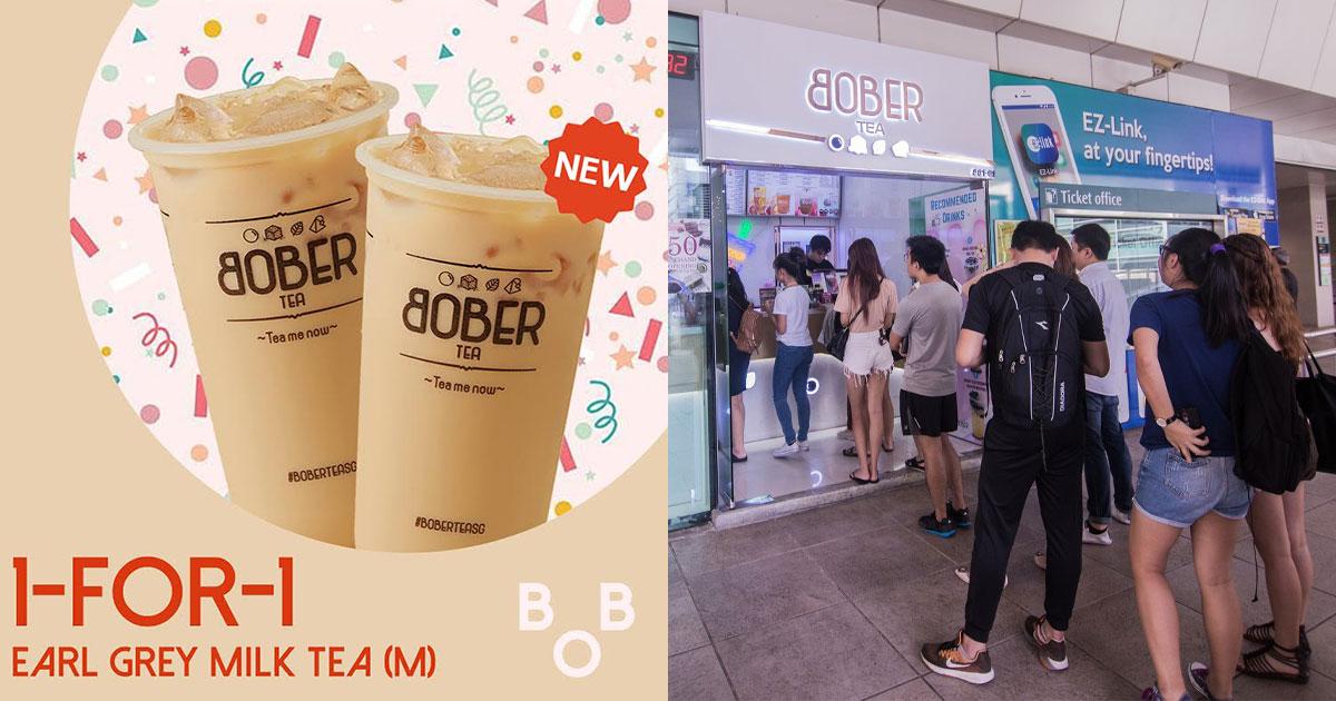 Bober Tea S'pore launches new Earl Grey Milk Tea, offers 1-FOR-1 Promotion from Oct 30 – Nov 1