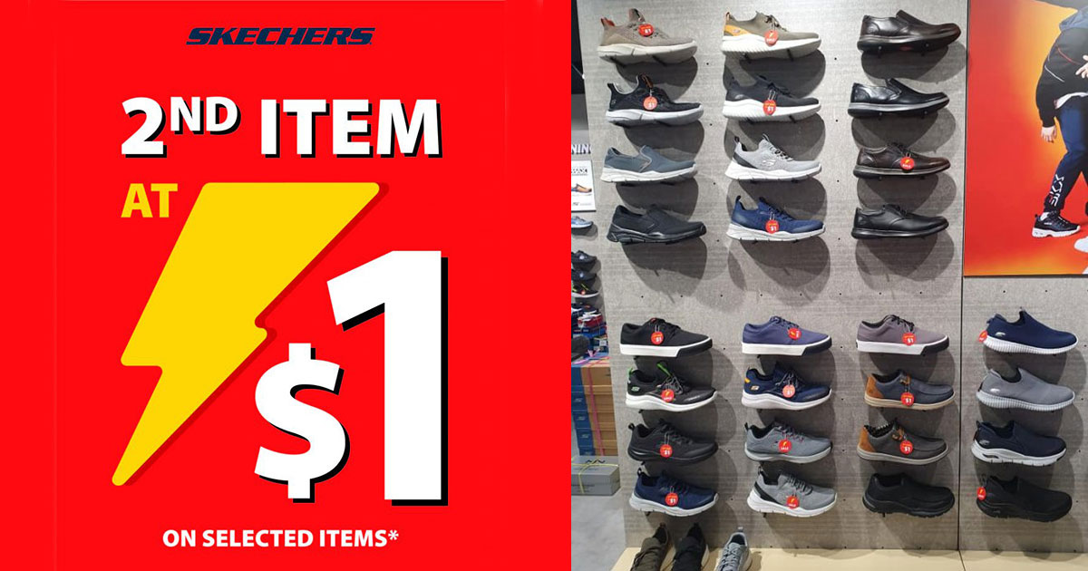 Skechers has $1 Promotion on 2nd item till Nov 29, lets you choose from shoes, bags, hip packs & more