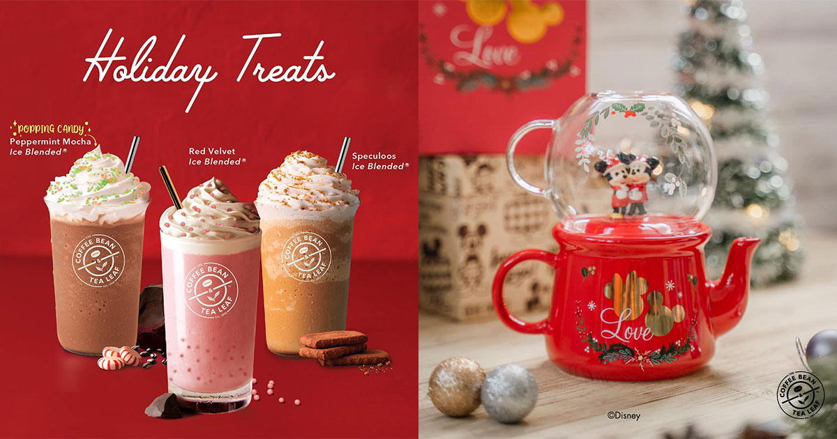 Coffee Bean S'pore launches new Disney-themed Merchandises along with Xmas Drinks & Cakes