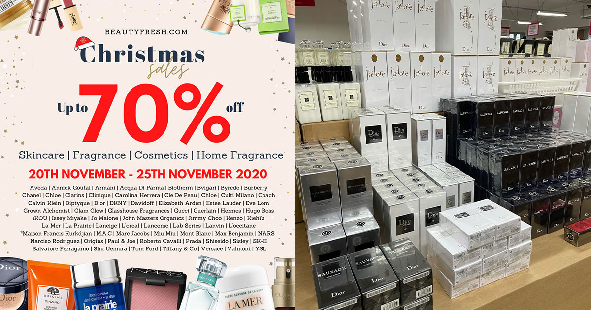 BeautyFresh Warehouse Sale goes online from Nov 20, has lots of Beauty Products & Fragrances up to 70% off