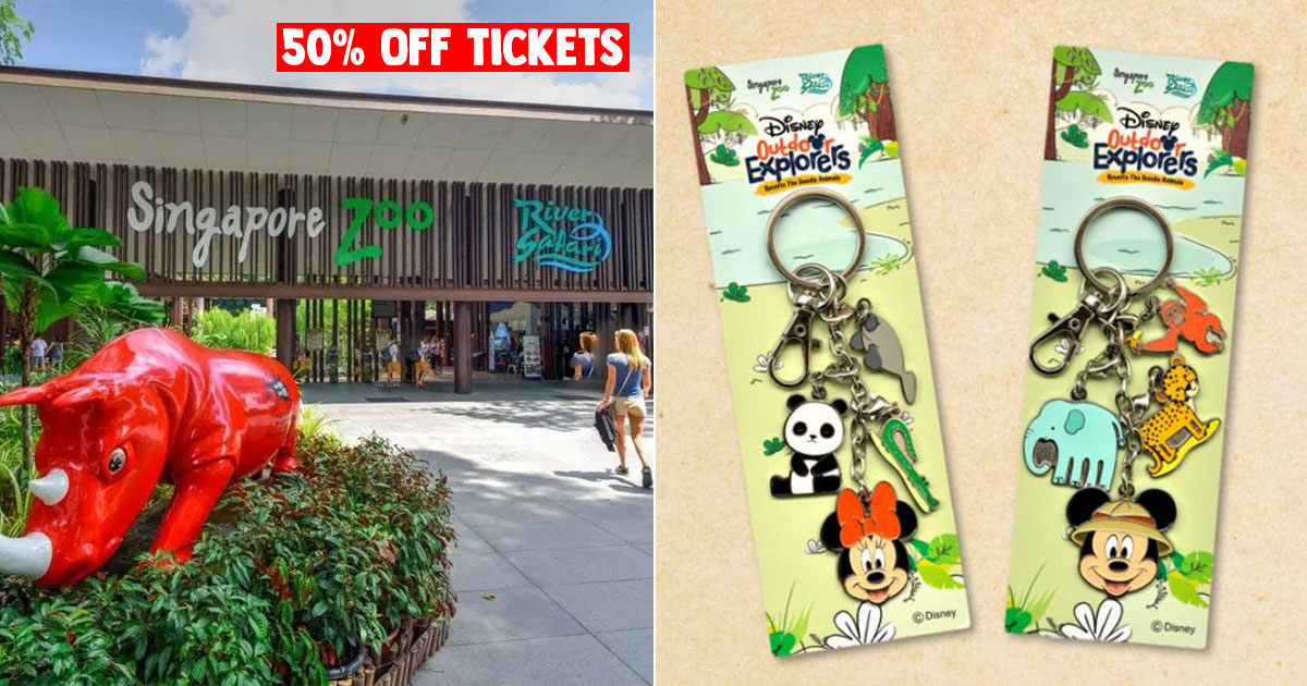 Singapore Zoo & River Safari offer 50% OFF tickets till Dec 18, has Mickey & Minnie merch to collect