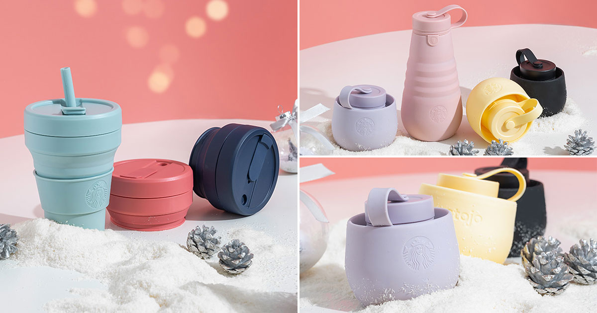 Starbucks S'pore to launch new Stojo Collapsible Cups & Bottles at S$39.90 each from Nov 23