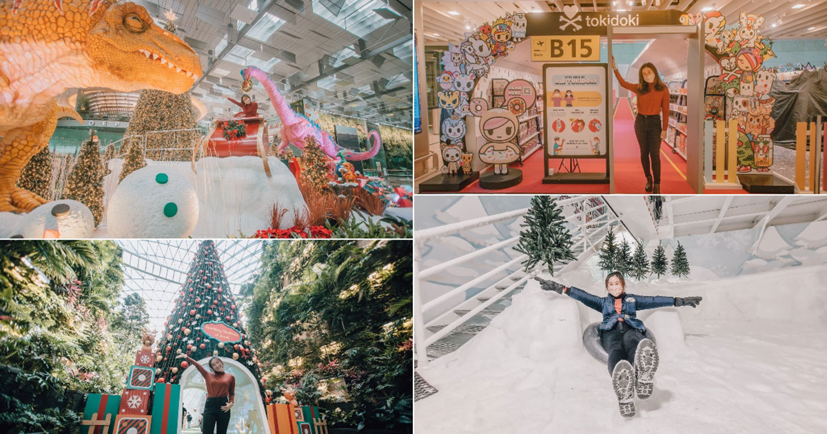Changi Airport T3 transforms into a Winter Dino Wonderland with sub-zero snow adventure & giant installations
