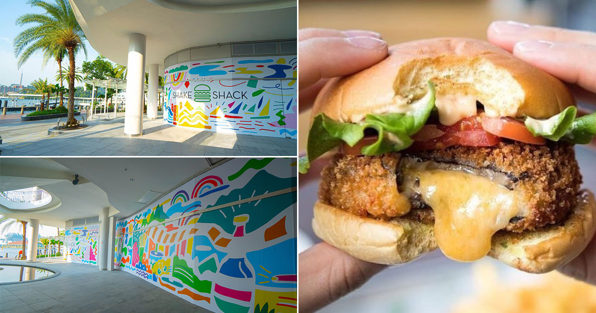 Shake Shack S'pore latest outlet will be located in VivoCity, has vibrant construction mural for Instagramming