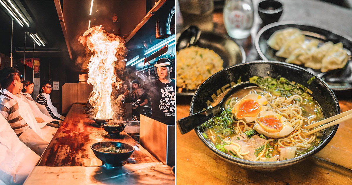 Famous Kyoto Menbaka Ramen with flaming bowls opens first S'pore outlet in Orchard Cineleisure