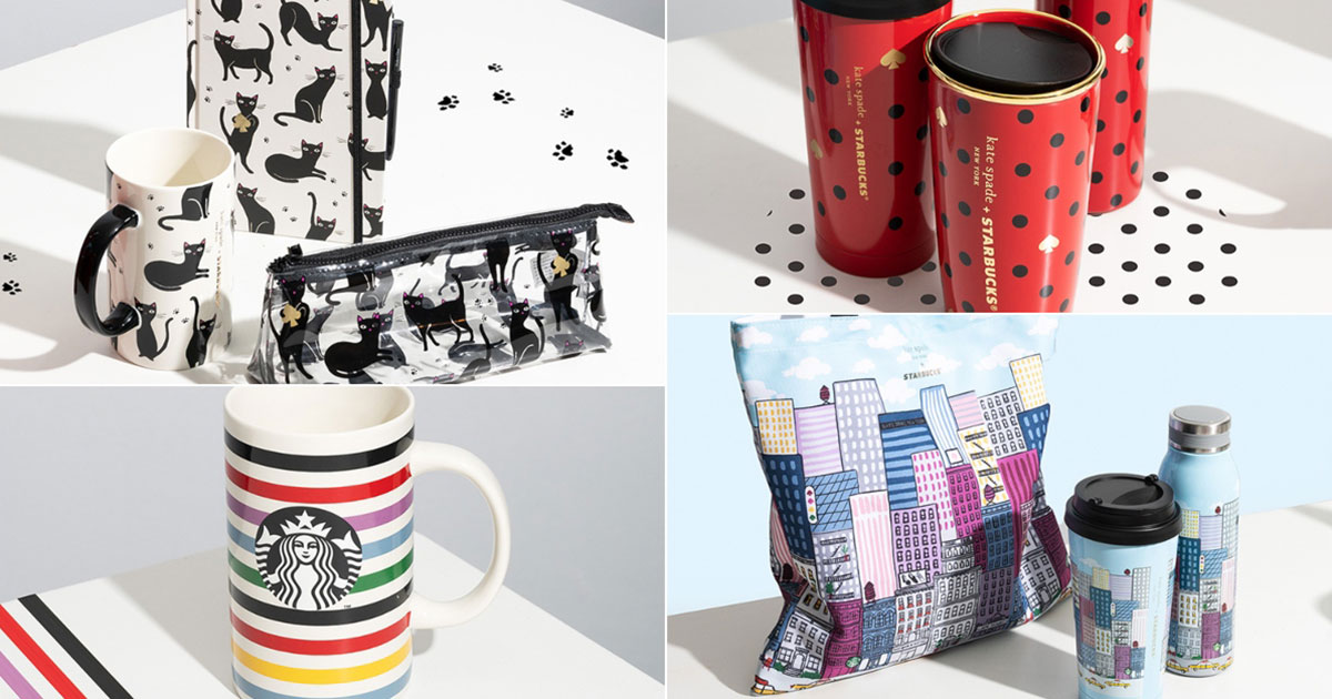 Starbucks x Kate Spade Bags, Mugs & Accessories available in S'pore stores and online from Dec 1