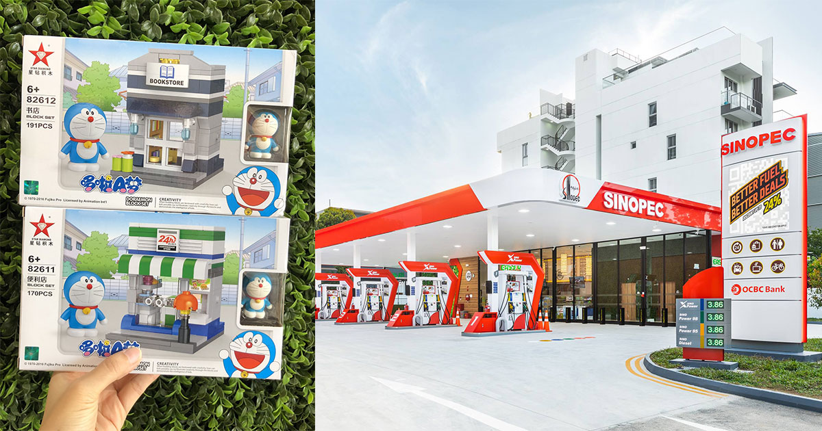 Sinopec Petrol Stations now selling Doraemon Block Set Collectibles at S$9.90 till Nov 30
