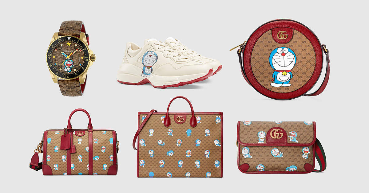 Doraemon x Gucci Collection available for preorder, features adorable robotic future cat with CNY-theme colours