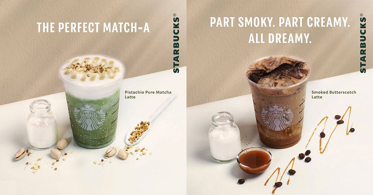 Starbucks to launch new Pistachio Pure Matcha Latte & Smoked Butterscotch Latte at all S'pore stores from Jan 4