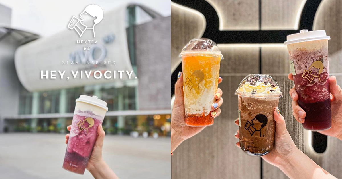 Popular bubble tea chain HEYTEA opens in VivoCity, offers 1-FOR-1 on All Drinks from Jan 9 – 11
