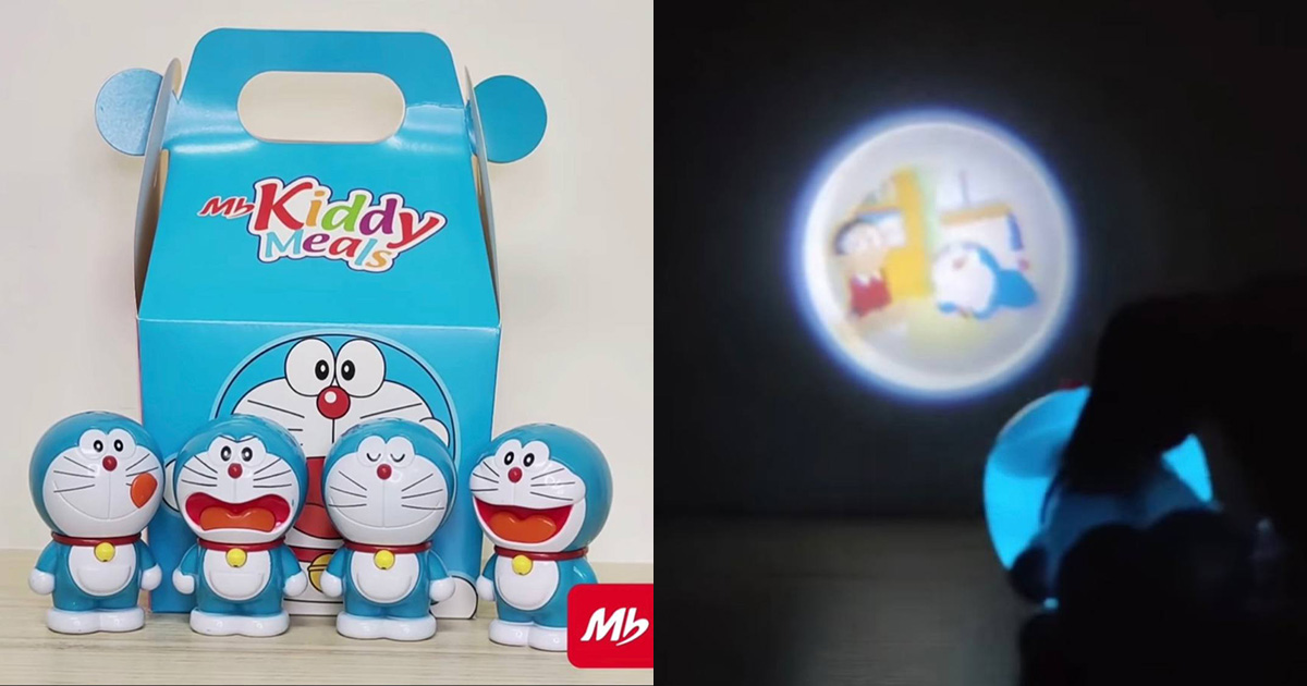 Marrybrown S'pore has Doraemon Projector Toy that comes FREE with MB Kiddy Meal, 4 designs to collect