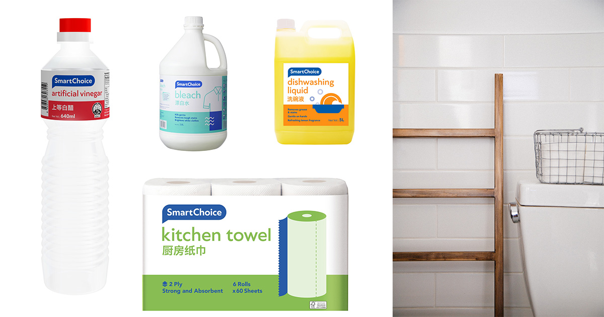 6 ultra-affordable Cleaning Hacks you can use with SmartChoice range of products this CNY