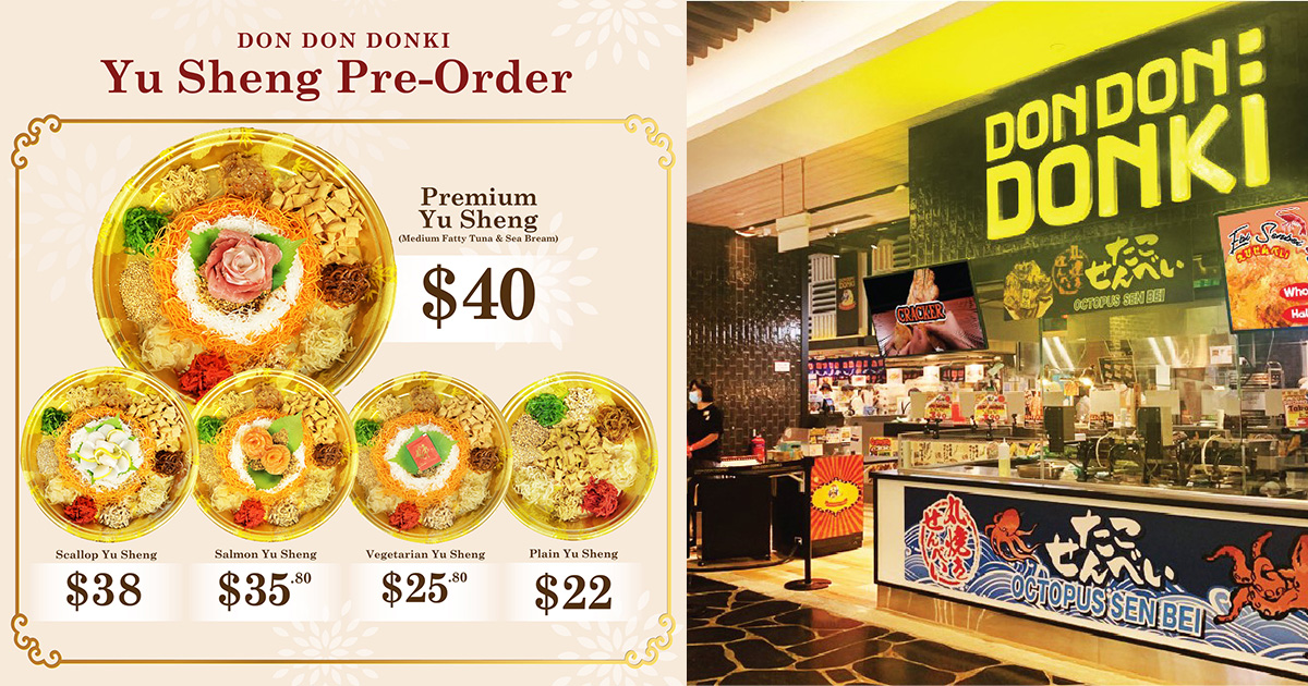 Don Don Donki lets you pre-order Yu Sheng from S$22, has Fatty Tuna, Salmon & even Vegetarian options