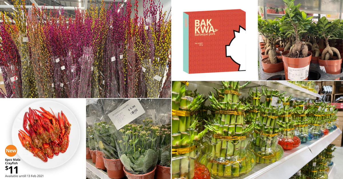 IKEA S'pore selling CNY Plants & Goodies including Bak Kwa, Mala Crayfish, Pussy Willow, Lucky Bamboo & more
