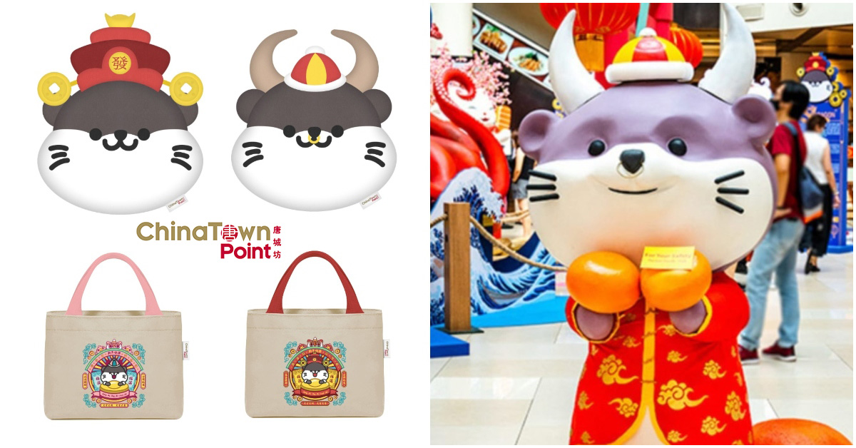 Chinatown Point's 'famous' Ox Mascot is actually an Otter, has otter-themed tote bags & cushion to redeem
