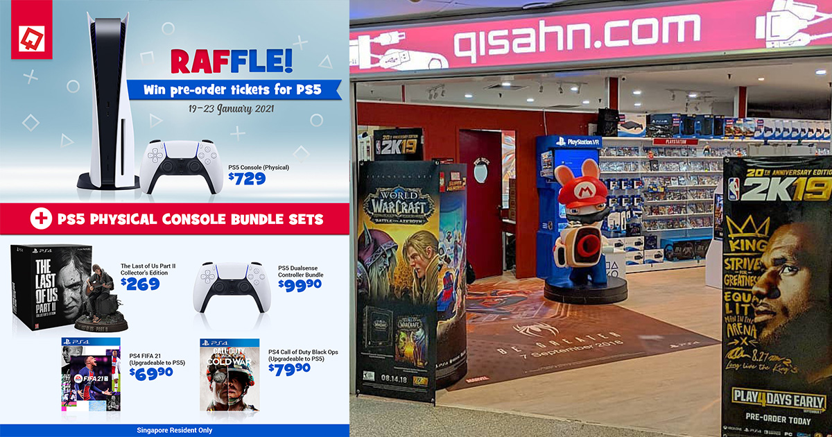 Qisahn launches Playstation 5 Preorder in Online Raffle till Jan 23, lets you buy a set for S$729 later this month