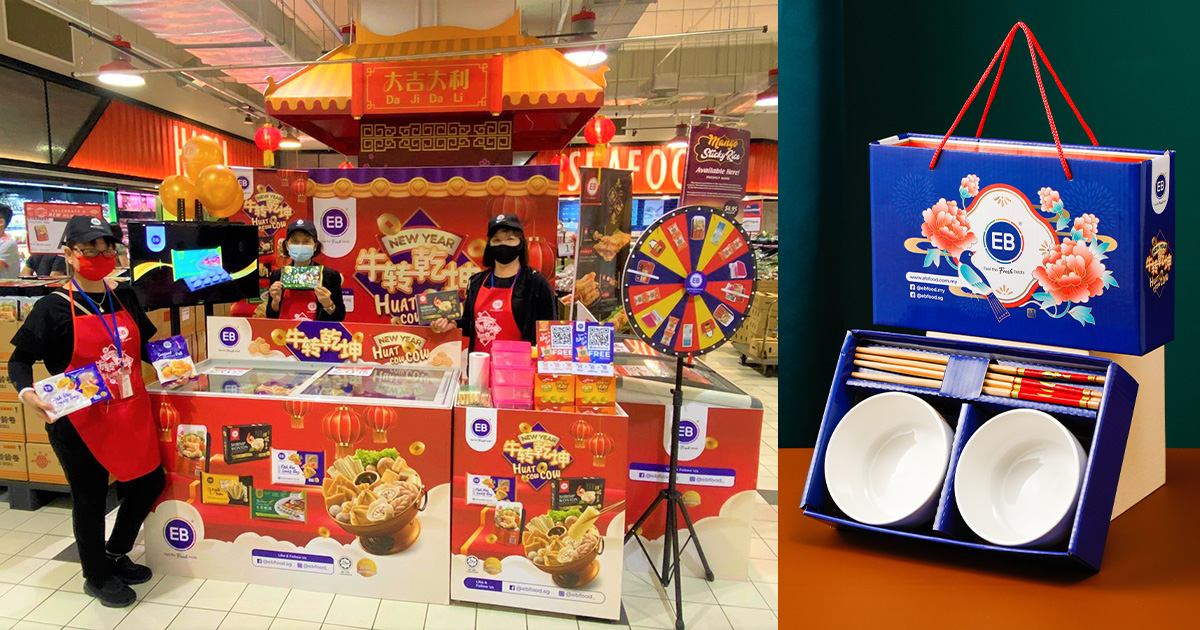 EB Food S'pore is giving away FREE CNY-themed Bowls & Chopsticks Set with S$25 spend till Feb 28