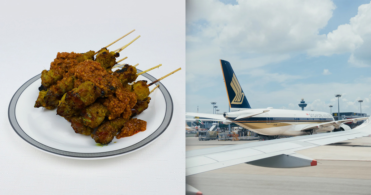 Singapore Airlines selling 48pc Signature Chicken Satay with Peanut Sauce for S$98, available in limited quantities