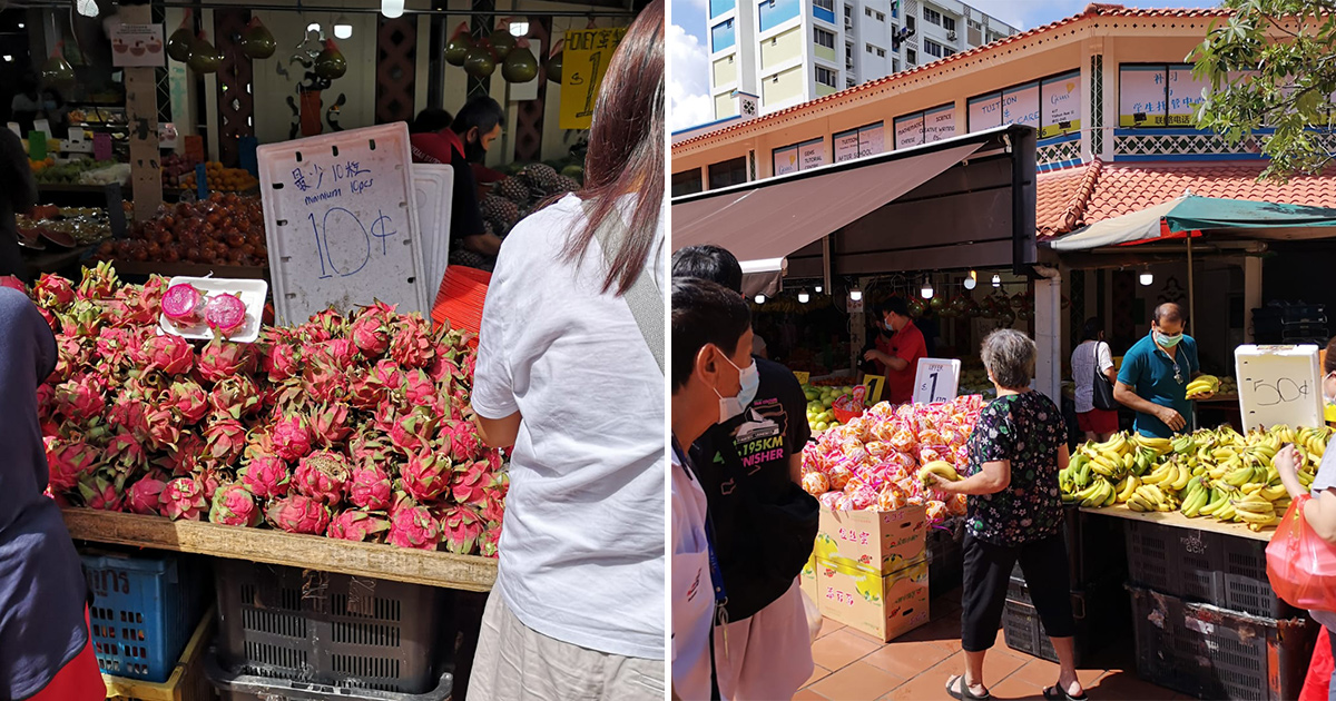 Yishun Fruit Stall sells lots of Dragonfruit for only $0.10 each, cheaper than supermarkets by a mile