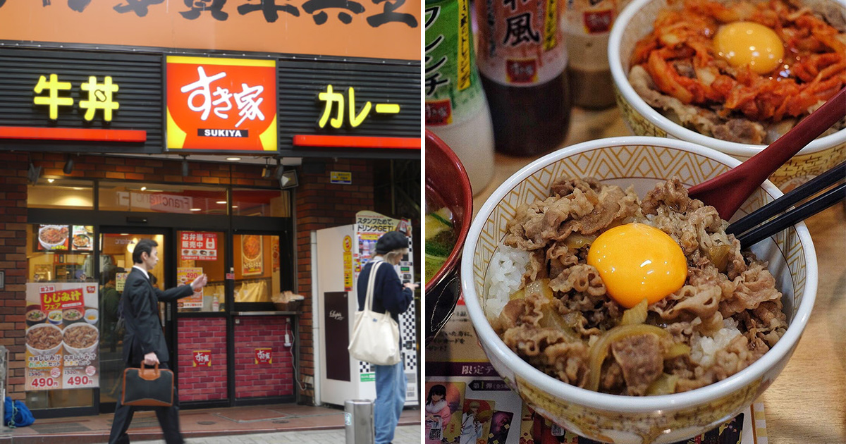 Japan's famous Beef Gyudon chain SUKIYA opening 1st outlet in S'pore at Suntec City on Feb 17