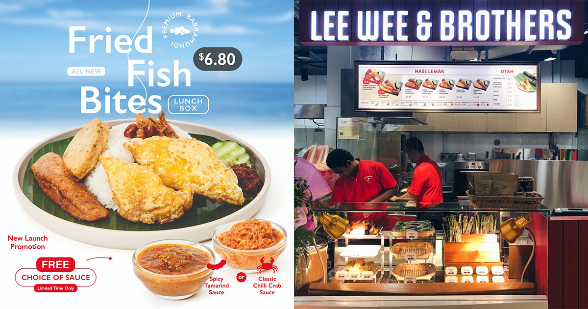 Lee Wee & Brothers has new Fried Fish Bites Nasi Lemak for S$6.80, comes with free Chilli Crab or Tamarind Sauce