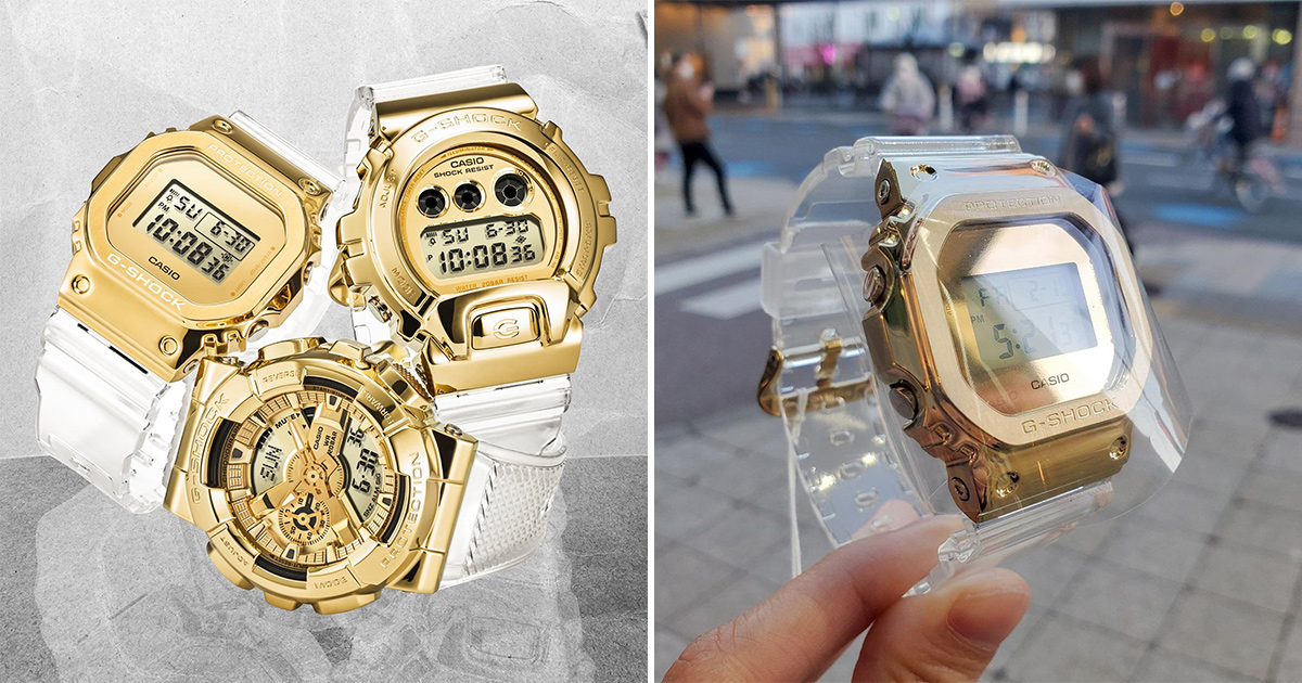 G-SHOCK S'pore launching 'Gold Ingot' Metallic Collection with gold bezel & transparent band