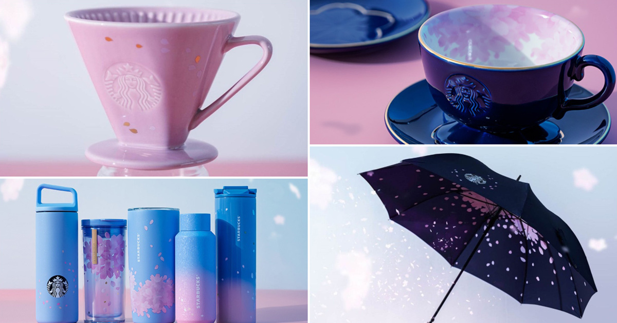 Starbucks S'pore launching Sakura Collection featuring tumblers, teacups & even umbrella available from Feb 24