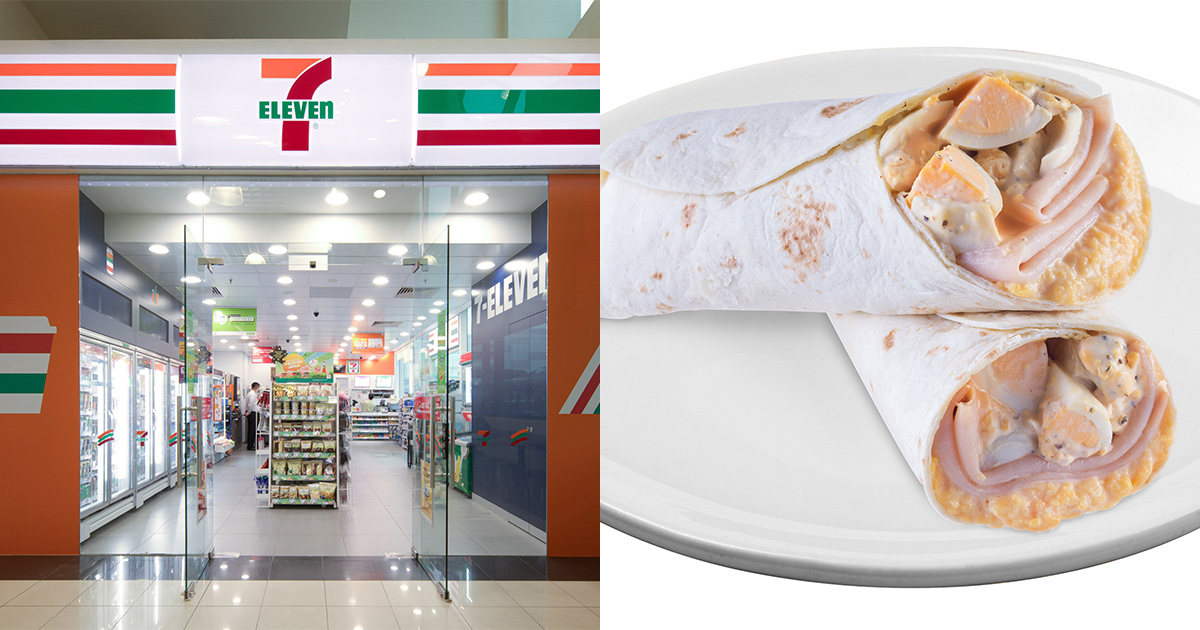 7-Eleven is giving away 2,000 Breakfast Wraps for FREE at 20 outlets in S'pore on Mar 8
