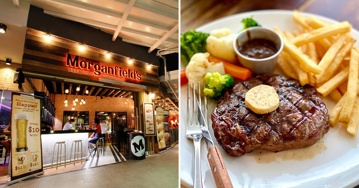 Morganfield's S'pore to offer 1-FOR-1 Ribeye Steak all-day at all outlets till Mar 14 when you dine in