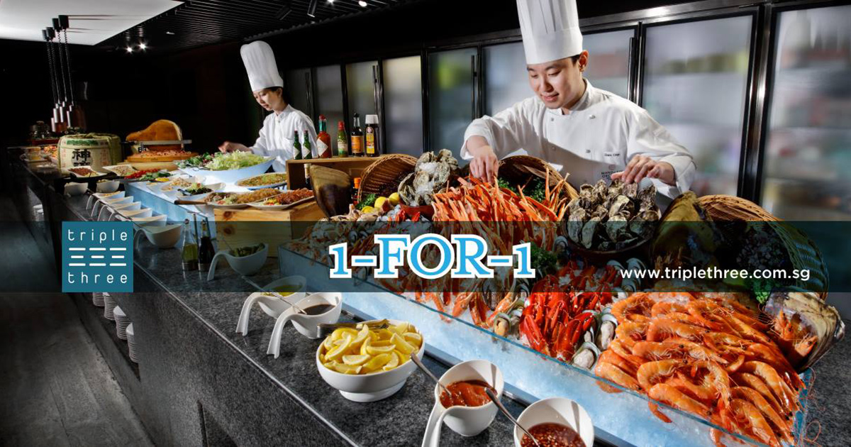 Triple Three to offer 1-FOR-1 Weekend Buffet Promotion with UOB, POSB & DBS Cards till Mar 31