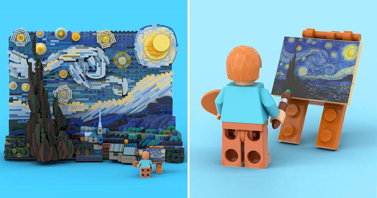 Van Gogh's famous 'Starry Night' masterpiece will become an official LEGO set