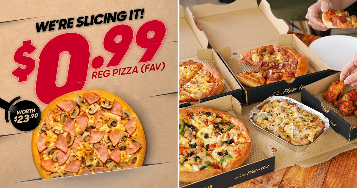 Pizza Hut offering S$0.99 Regular Pizza with this Promo Code till Mar 25, valid for delivery & self-collect