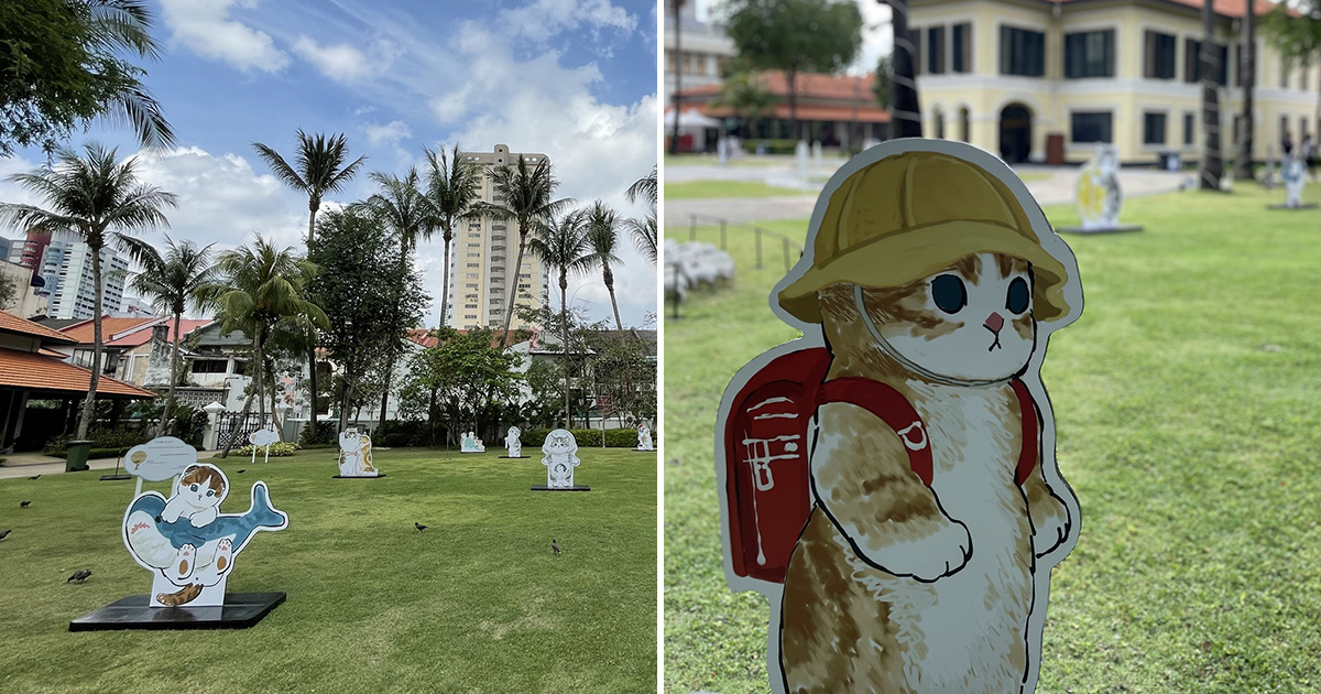 Lots of adorable Kitty Displays by Japanese artist have taken over Malay Heritage Centre this March