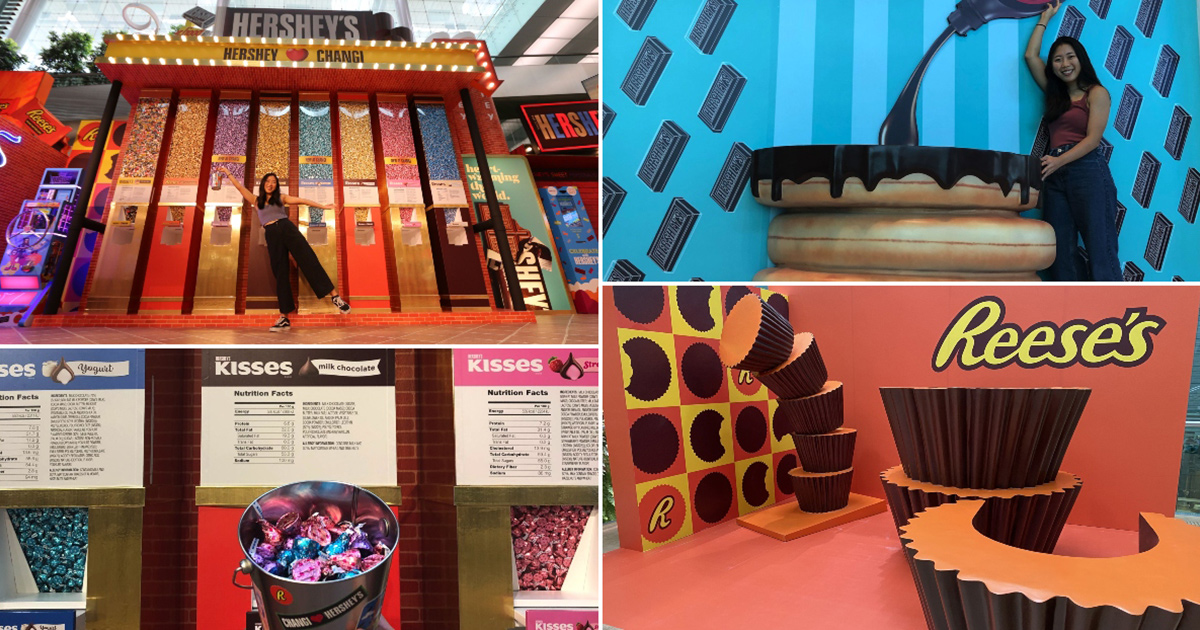 Changi Airport turns into Giant-sized World of Hershey's Chocolates to welcome School Holidays from Mar 12
