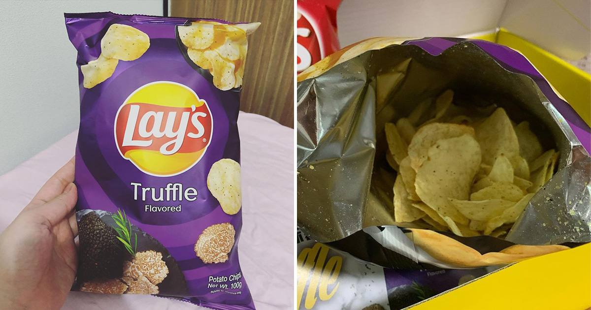 Truffle-flavoured LAY'S Potato Chips available at FairPrice supermarkets for $5.25 per bag