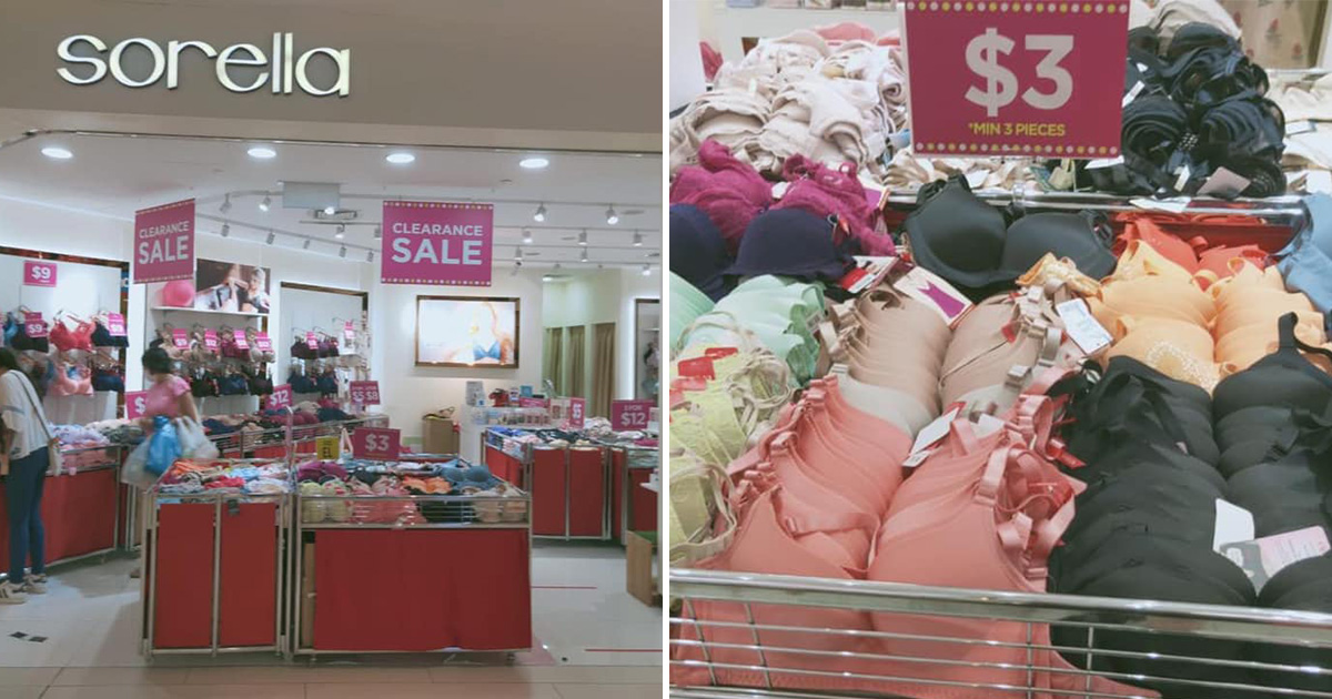Sorella Westgate has Lingerie Clearance Sale with bras from S$3 for a limited time this March