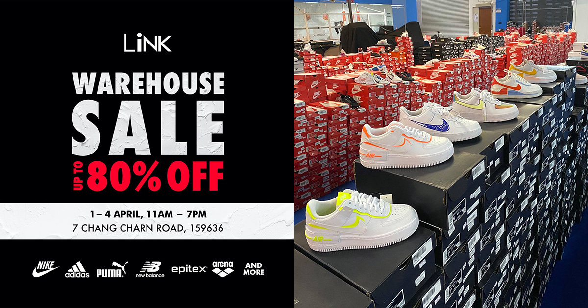 LiNK Warehouse Sale is back from Apr 1 – 4, find lots of branded shoes & sportswear from $8.50