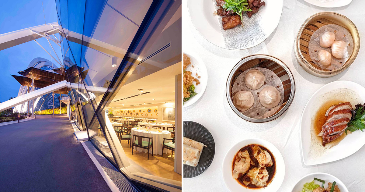 Seafood place in Gardens by the Bay offers Daily Dim Sum Buffet with luxurious Marina Bay views from $26