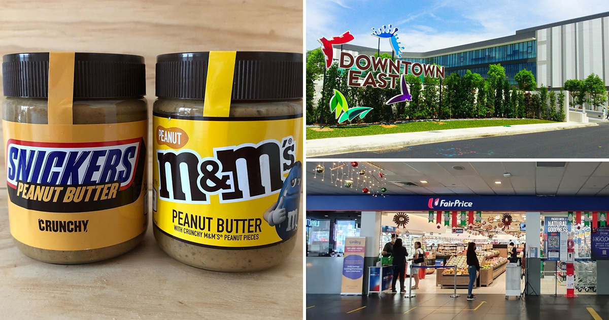 Snickers and M&M's Peanut Butter spotted in FairPrice outlet in S'pore, costs $7.95 per 225g bottle