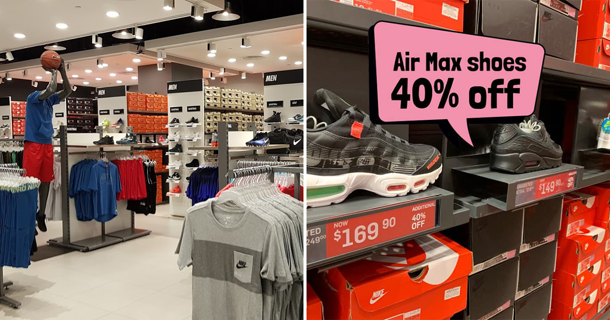 Nike Factory Outlet in Changi City Point slashes 40% on all Air Max sneaker models till Apr 4