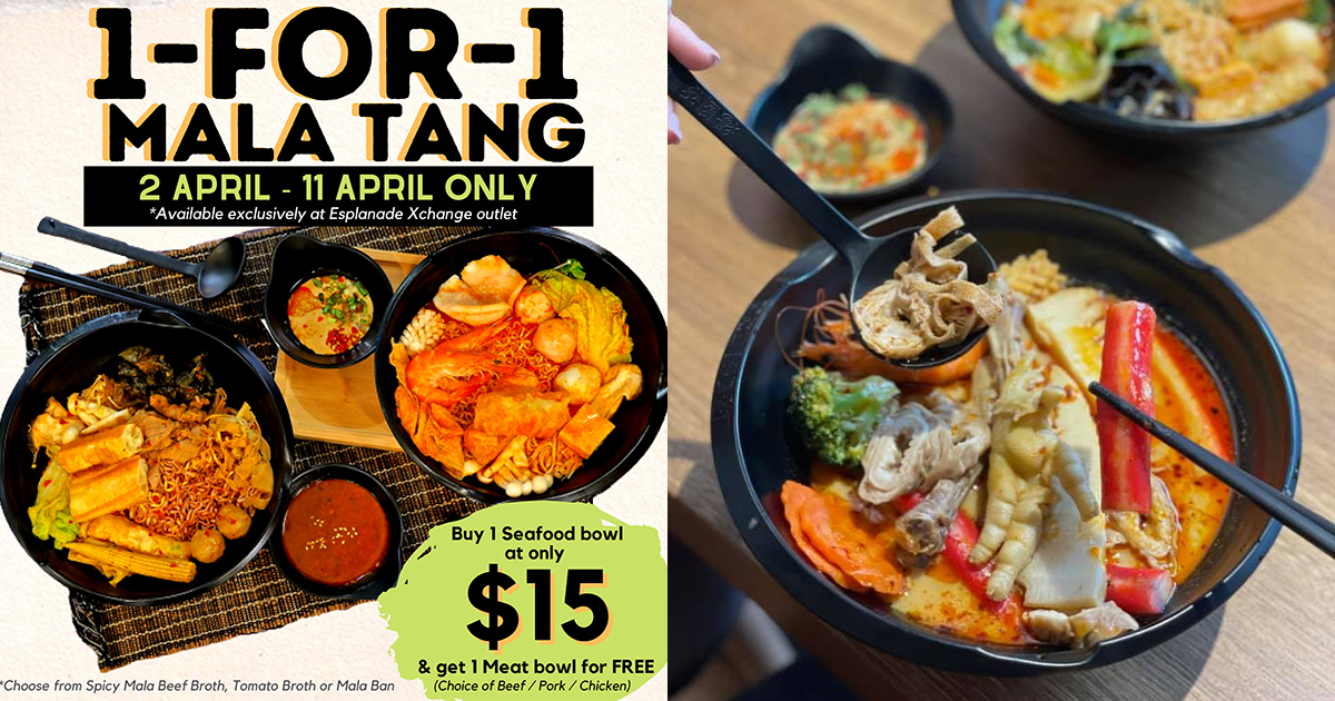 Famous Mala Tang chain Yang Guo Fu (杨国福) opens in Esplanade MRT, has 1-FOR-1 Promotion from Apr 2 – 11