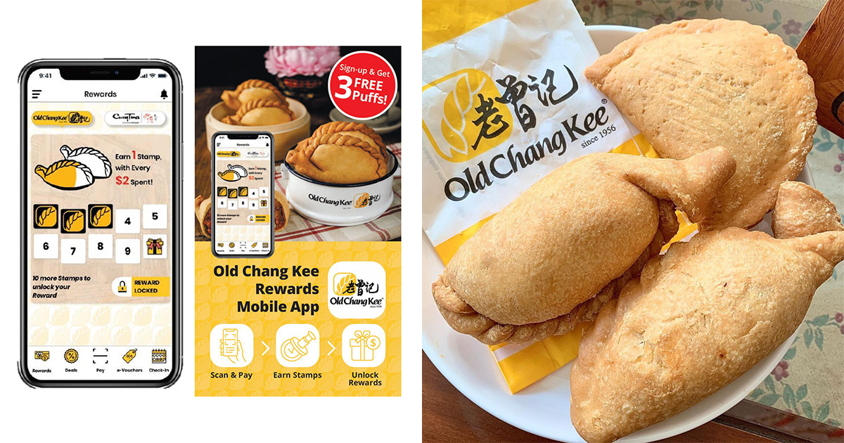 Old Chang Kee launches Rewards Mobile App, offers 3 FREE Curry Puffs when you sign up by Sep 30