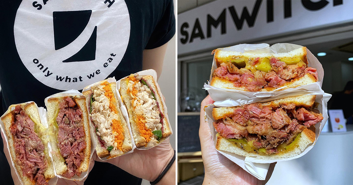 Sandwich Bar in Hougang Central serves Thick Meat Stacks and Fresh Milk Tea from $2.80
