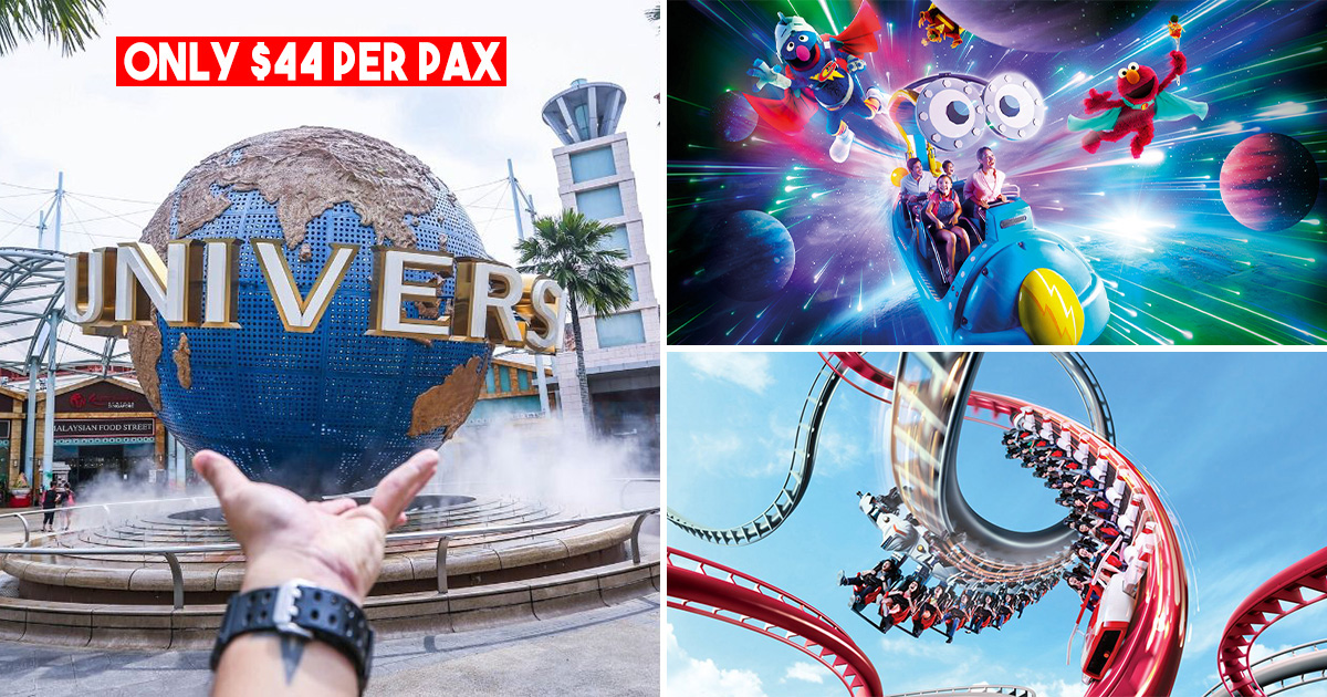 Universal Studios S'pore Buy 2 Get 1 Free Promotion means you pay only S$44 per ticket this April